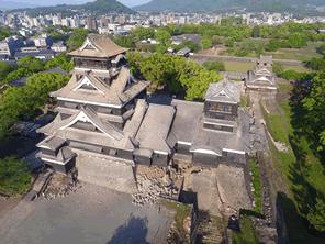 熊本城の修復のためのネット募金