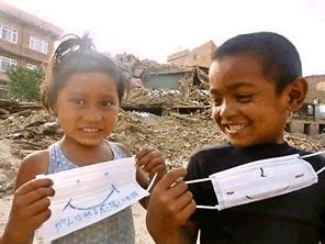 ネパールの方々に感染症予防のマスクを届ける