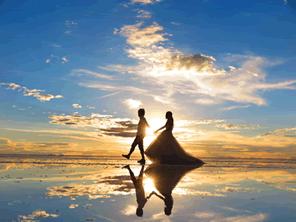 ウユニ塩湖の美しい景色を守る