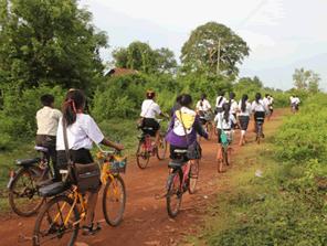 通学圏内を自転車で広げる