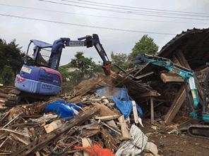 熊本地震の復旧作業で重機が足りない