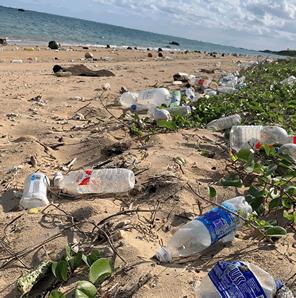 海がゴミ箱にならないように