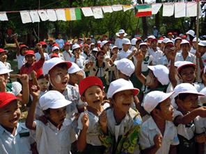 日本の運動会をミャンマーに贈る